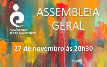 Assembleia Geral de Sócios - novembro 2020